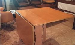 Solid white pine drop leaf table expands to full sized dining table $75 obo