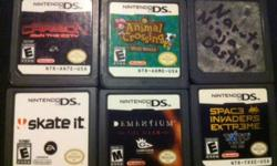 I have several DS Lite games for sale today!    Naruto Ninja Destiny - 10 Dementium the Ward - 10 Need for Speed Carbon, own the city - 10 Animal Crossing - 5 Sword of Mana GBA - 5 Space Invaders Extreme - 5 Pokemon Pearl - 15     or buy everything for 40
