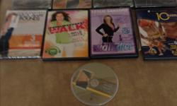( diet and exercise DVDs 3 movie DVDs all for $6.00 250 797 4754 250 797 6328