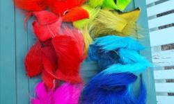 Excellent dyed polar bear. Good colour selection. $4 per bag.