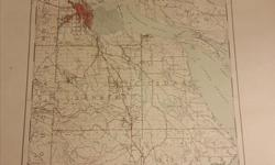 Size is 29 x 23 The map is in excellent overall condition. There is a a small tear (1 inch) in the top border edge. Print date is 1955 Shows north Nanaimo to Ladysmith The hilight feature of the map is that it has all of the mine shaft entrances and