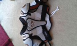 I am selling Easton SYNERGY 300 shoulder pads for 15 dollars. They are new and have never ben used.