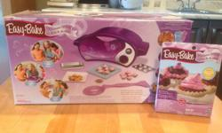 Great kids toy oven that bakes various types of food. Some food packets included in price. Also some additional easy bake items. Oven is in like new condition. Makes a great birthday or Christmas gift.