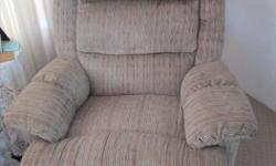 Wallaway easy chair in good condition. Fabric covering.