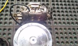 Edelbrock 4 barrel carb for sale with air cleaner $150.00 250-361-8224