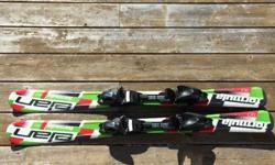 Asking $225.00 Firm Skis: Elan Formula 110cm with adjustable bindings Boots: Roces Idea (adjustable kids boots) Colour: Black Size: Adjustable size 19.0 to 22.0 ( shoe size: 13 to 3) Poles: adjustable from 32 to 42in Great set for your growing skier!