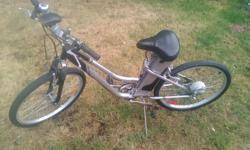Great bike. Will carry a 350 lb person up a steep hill without pedaling. Very impressive. Everything is in good working order. I JUST REPLACED THE BATTERY, Tuesday, July 5th. It has 7 speeds and a headlight. This is legal on the trails such as the