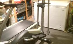 Home Crosstrainer elliptical bike X350P a no stress workout on hips, ankles and joints upper body exercising with dual action for arms LCD window display speed time, distance good intentions, bad idea...not very many kms , like new..
