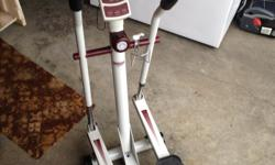 Elliptical Trainer made by Health Runner, used for a couple of months and has been stored since, in excellent shape. $60 or best offer . Please phone Pat at 250-744-6758.