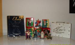 Have 5 Elvis Presley Hallmark Christmas Decorations in the Original boxes & packing. A Elvis Commemorative Edition Book, and a Elvis Las Vegas Poker Set. Poker set has never been used or opened. All are in excellent shape. Asking $100.00  as a package