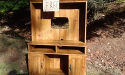 Entertainment cabinet. Have seen these used for toy kitchens. Rick 250-655-0422 1432 Oceanspray Dr N Saanich