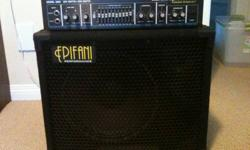 This cabinet is in great condition. Light and punchy. Comes with cover. Look here for details. http://www.epifani.com/products/PS_112BC.php Hartke head is also for sale, but is not included in this price. Email me for details.