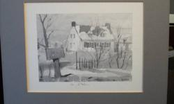 Three different etching prints with matt.  please check out my other ads for great deals