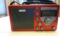 MODEL NO. S350DL AM/FM RADIO. Needs adaptor. Also runs on batteries.