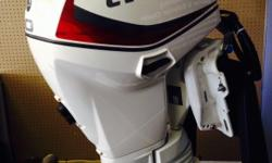 """SOUTH ISLAND MARINE'S SHOWROOM OUTBOARD MODELS MUST GO, CALL NOW WHILE SUPPLIES LAST! 40HP EVINRUDE E-TEC, 20"""" LONG, WHITE, STANDARD ROTATION, REMOTE STEERING, ELECTRIC START, POWER TRIM & TILT."""