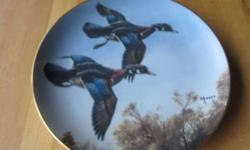 collection entitled Ducks Taking Flight. limited to 14 firing days. the Danbury Mint. $15 each or $100 for 9 plates