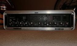 Fender Bassman 1200 Pro bass amp head.  1200 watt hybrid rack mount bass amp (tube pre-amp, solid state power amp).  This is a powerful, professional quality bass amp in near perfect condition.  It is housed in a Gator rack case.  Comes with original