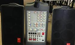 Duncan Music We have a used Fender Passport P-250 in great shape. The P-250 system includes a powerful 6-channel, 250-watt stereo powered mixer with digital reverb and 2 custom, full-range speaker cabinets. The system packs into a convenient,