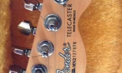 1992 fender telecaster made in Mexico,starburst with hard shell case