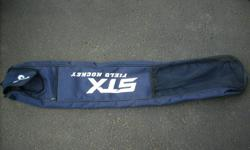 navy blue field hockey bag, excellent condition