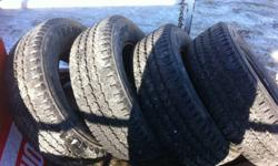 Firestone Transforce all season tires for truck or suv 245/70R17 great shape 90% tread left only on for 10 000kms This ad was posted with the Kijiji Classifieds app.