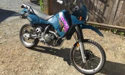 '99 KLR 650 parts, complete bike less frame, tank and rad (damaged). Good wheels with near new tires, running motor, complete from wiring to exhaust. Email for individual prices or make offer on the whole lot.