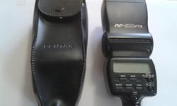 Electronic Pentax Speed Flash,and carrying case,please text the number given ,Thanks