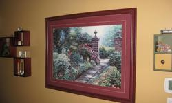 40 INCHES WIDE BY 31 INCHES HIGH BURGUNDY FRAME HENRY PETERS