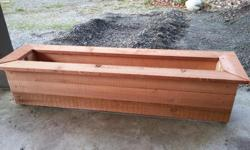 """Interested in purchasing a flower planter? I have some made out of cedar wood. This is a 4""""/2"""" but I can make smaller ones as well."""