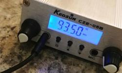 0.1 to 0.5 watt create your own fm station on your farm or acreage from 86fm to 113fm I have a more powerful fm unit as well that goes to 10km but the antenna is buggered and I will include that unit as well. Posted with Used.ca app