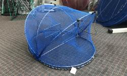 """A great way to save space on the boat and catch more crab! Come check out our folding crab and prawn traps! Blue Crab Trap ONLY $43.95 plus tax! Red Prawn Trap ONLY $43.95 plus tax! *While Quantities Last* It's """"A Boat Show Every Day"""" at Sherwood Marine"""