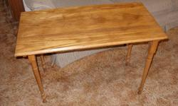 """Well made, all wood table, 18"""" x 36"""" x 25"""" high."""
