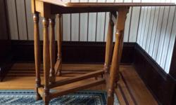 Very useful, well kept, dining room folding table. 32W x 30H x 36D (unfolded) 12D (folded)