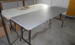 """FOLDING TABLES. Approx. 78"""" x 30"""". 3 available. $10 each."""