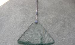 """FOLDING TROUT NET WITH A TELESCOPING HANDLE. 21 in. or 53 cm. wide with a 26 to 44.5 in. or 66 to 113 cm. telescoping handle. In good condition. Its a house number so texting will not work. """"""""DO NOT"""""""" CALL BEFORE 8 am. OR AFTER 9:00 pm. CASH ONLY. PICKUP"""