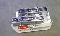 For sale new not used Edelbrock samll block Chevy TALL valve covers $145.00    250-308-8298