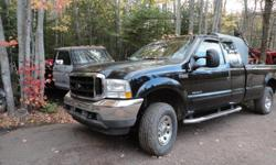 Make Ford Year 2003 Colour black kms 289998 Trans Automatic 03 superduty f250 auto. 4x4 full 8 foot box inspected. has running boards boxliner. 7.3 powerstroke diesel. works great. $6500. trades considered.