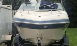 205 FOUR WINNS ® SUNDOWNER ? SPECIFICATIONS The 205 Sundowner is not afraid of the dark, nor will you be when you see how easily the berth converts for sleeping. At dawn's early light, pull up the anchor and make way for home - or better yet, another day
