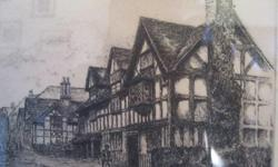 Mixed Media & Prints Subscribe to our feed. rss feed icon Framed etching signed by artist Edward J. Cherry (F.R.S.A.) - Shakespeare's Birthplace. This wonderful framed and pencil signed etching by artist Edward J. Cherry depicting ' Shakespeare's