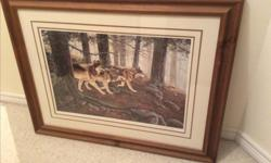 Lovely limited edition framed and matted wolf print