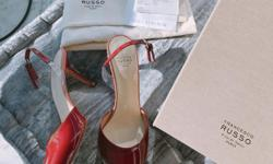 Size 6, 36. This is very a new designer shoes brand that showed up in the luxury malls. The simple and great designs are so elegant and attractive. There is no damage. And this perfect heel height and design is very hard to find now. I am trying to sell