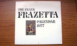 Frank Frazetta Calendars from 1977 and 1978. Each Calendar has 12 amazing pictures depicting fantasy and mythical creatures. The inside prints are in really great condition. July of the 1978 Calendar has a bit of scribbling on a couple of dates. Asking $5