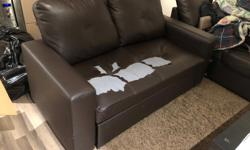 sectional sofa bed with storage, had some rips and tears but other than that its still usable
