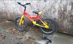 Free kids bike - must pickup from Saanichton. Needs a new pedal and a good tune up. Not sure on size but my 5 yr old can ride it. I'd say for a child 4-7years old depending on their height. Comes with training wheels. Posted with Used.ca app