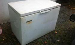Older freezer, typical size, keeps things cold, right price. You move it.