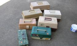 (((Open this ad to view all that is listed.)) FRESH & SALT WATER FISHING BOXES. $15.00 - 1 TRAY SMALL VINTAGE BAKELITE FISHING BOX. $4.00 - 1 TRAY FRESH WATER FISHING BOXES. $4.00 - 2 TRAY FRESH WATER FISHING BOXES. $7.00 - 3 TRAY FRESH WATER FISHING