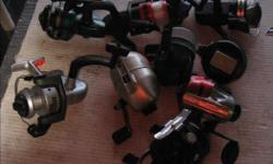 FRESH WATER FISHING REELS. Mostly from $4.00 to $6.00 each. All in very good condition.