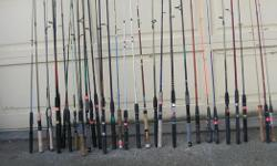 "Fresh Water Fishing Rods. Mostly from $4.00 to $15.00 each. All in good to like new condition. ITS A HOUSE NUMBER SO DO NOT TEXT. """"DO NOT"""" CALL BEFORE 8 am. OR AFTER 9:00 pm. CASH ONLY. PICKUP ONLY VIEW MAP for general location. View poster's list for"