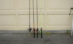 (((Open this ad to view all that is listed.)) FRESH WATER ROD & REEL COMBOS. $25.00 - SHAKESPEARE CRUSADER, CRUZ SP 60 2M 6 ft. MEDIUM ACTION. SPINNING ROD. SHAKESPEARE CRUSADER REEL with ball bearing action. $20.00 - NEUTRON SERIES SBN-562 5 ft. 6 in.