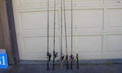 (((Open this ad to view all that is listed.)) FRESH WATER ROD & REEL COMBOS. $35.00 - BROWNING SILAFLEX MODEL 032915 6 ft. 6 in. MEDIUM ACTION SPINNING ROD. Line wt. 6 - 10 lbs. BROWNING 3510 Ball bearing reel. $25.00 - TOTAL TACKLE 6 ft. 6 in. MEDIUM
